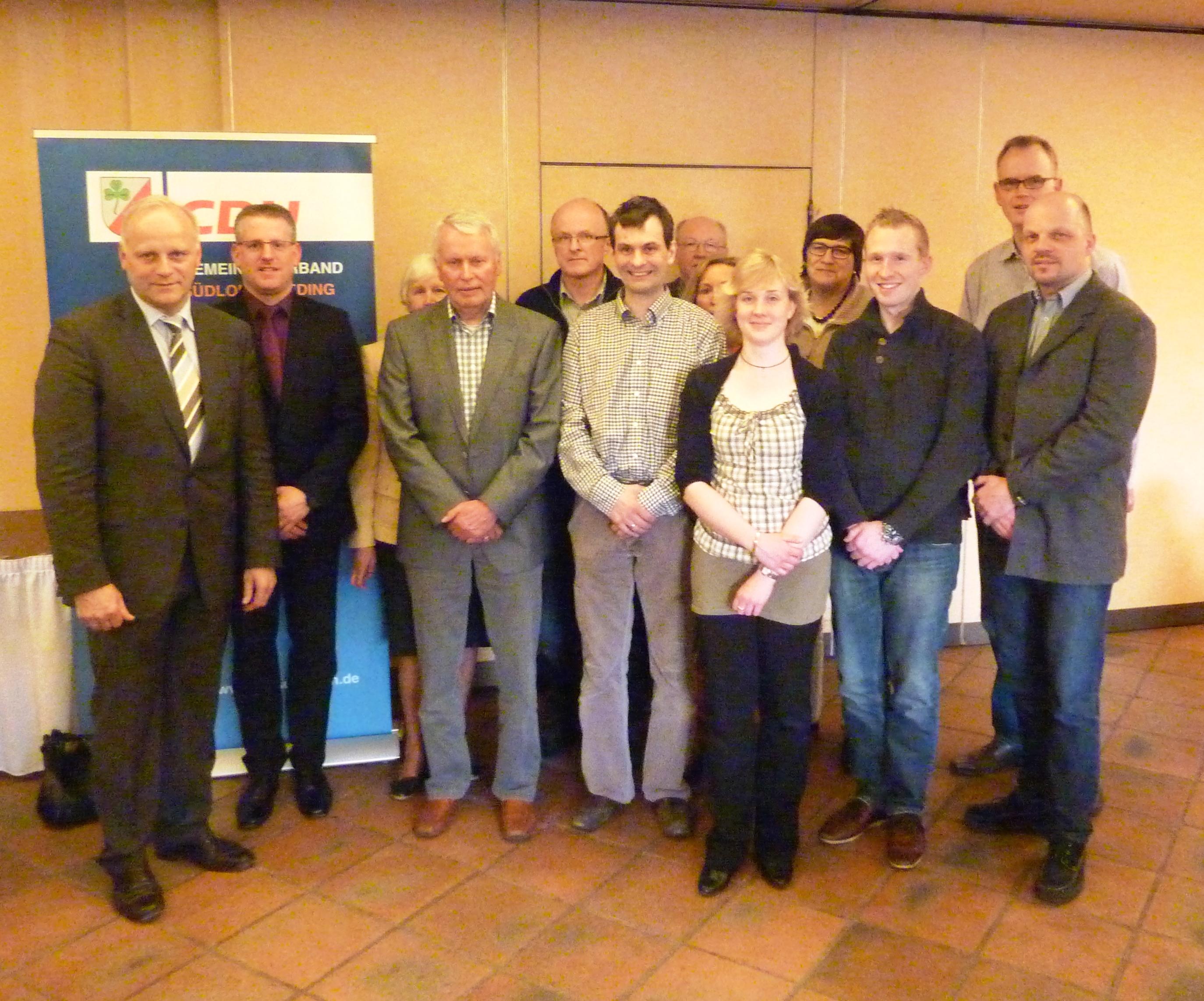 Neuer Vorstand des CDU Gemeindeverbandes Südlohn-Oeding