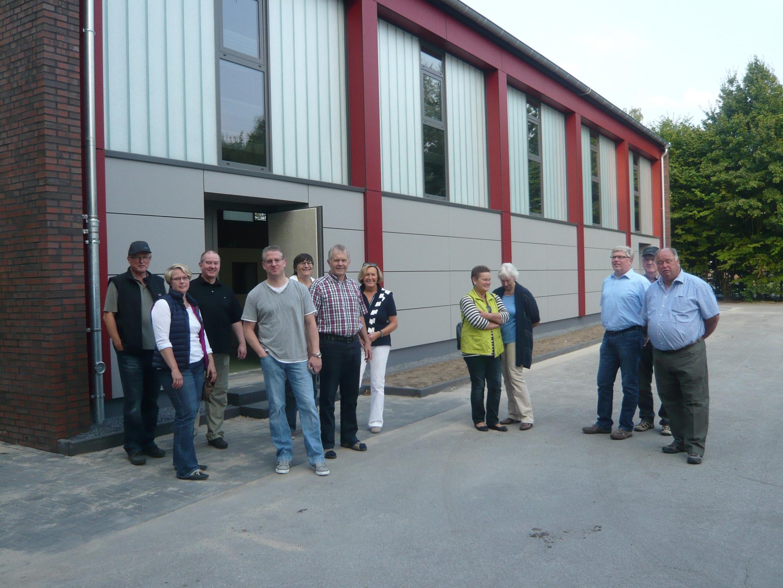 Die energetisch sanierte Turnhalle in Oeding stand auf dem Besuchsprogramm der CDU-Vertreter